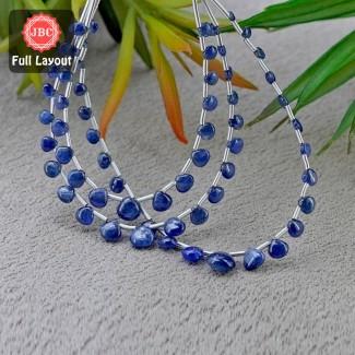 Blue Sapphire 4-9mm Smooth Heart Shape 18 Inch Long Gemstone Beads