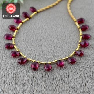 Rubellite Beads 9-10.5mm...