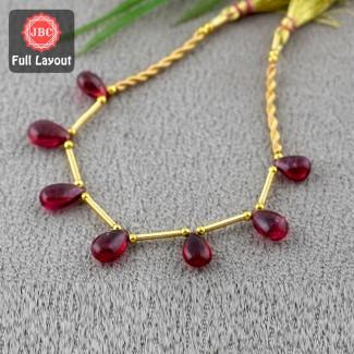Rubellite Beads 9-11.5mm...